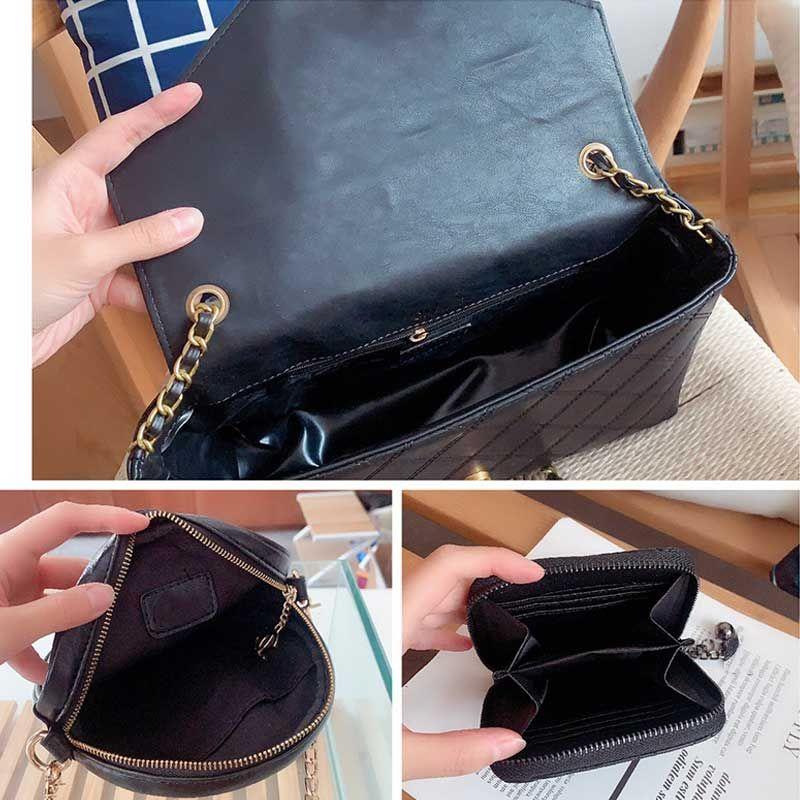 Верхняя сумочка круглая клапанская сумка PCS кошелек кошелек + квадратный кошелек мешок женские кожаные цветочные плечо + леди 3 мессенджер кошелек сумки MDMXF