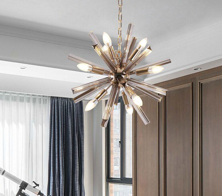 Modern Spuknit Chandelier Lighting Living Room cristal luzes de suspensão Decoração luminária Dinning Room Suspensão Lamp