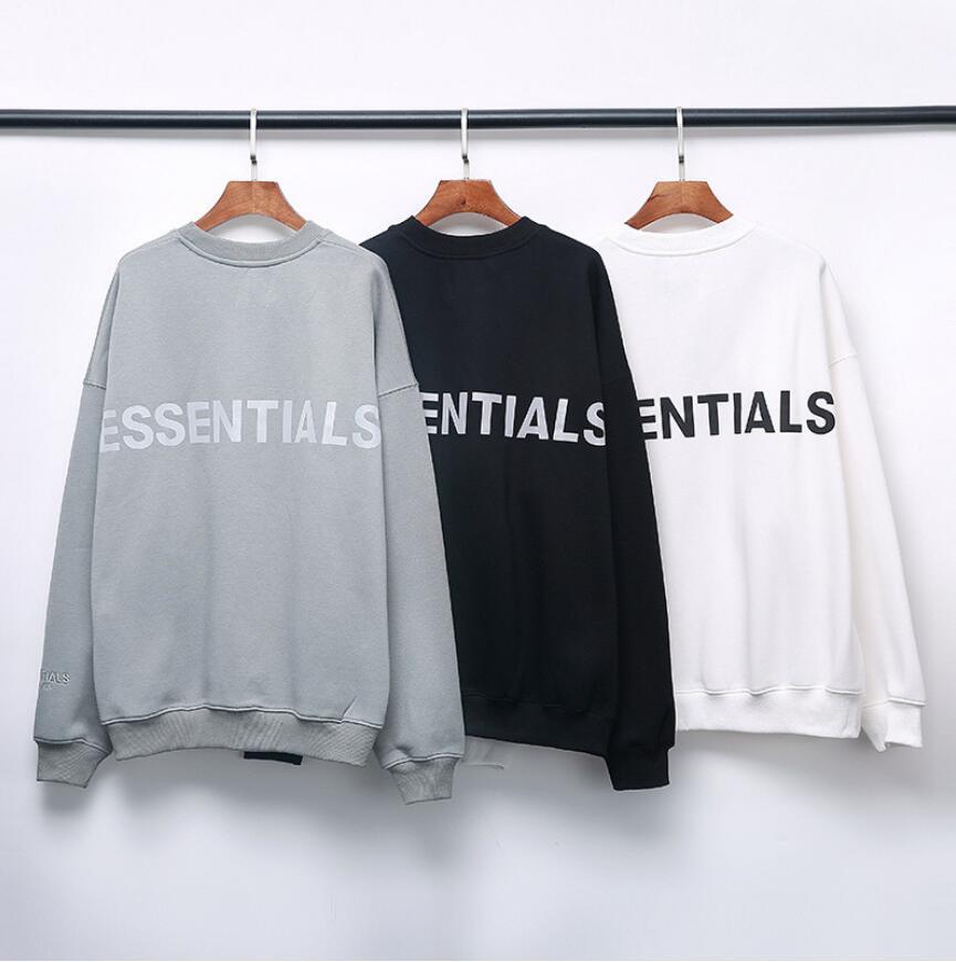 2021 hot marchio di tendenza Felpe ESSENTIALS Uomo Abbigliamento Uomo di lettere riflettenti puro cotone abbigliamento di moda maglione girocollo strada