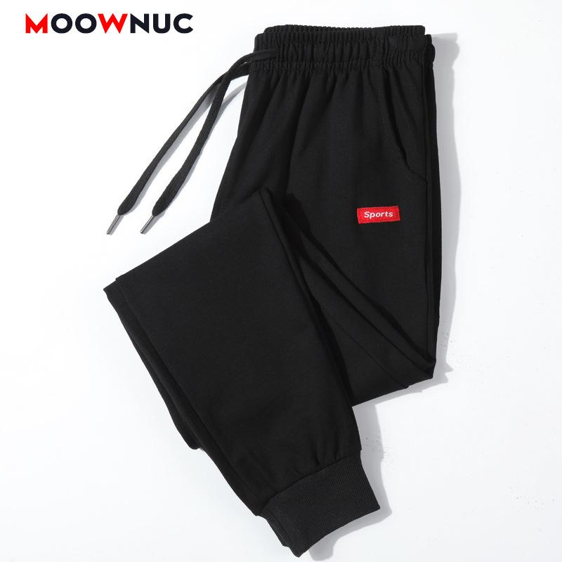 Pantalones de los hombres del basculador Sweatpants pantalones de algodón recta manera ocasional delgado masculino Streetwear elástico Masculino MOOWNUC Hip Hop 201017