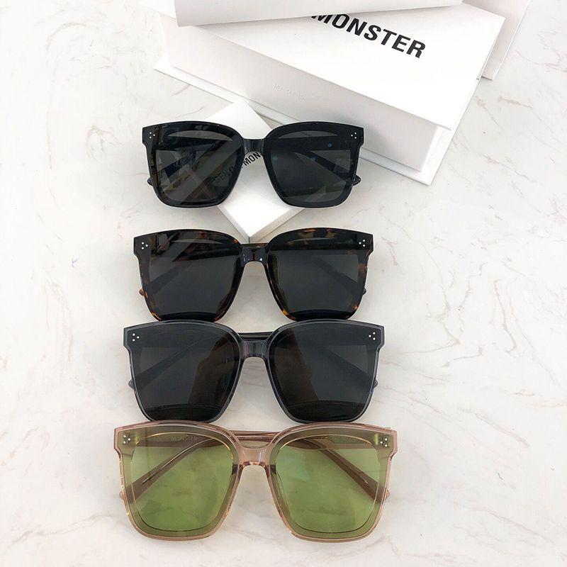 2020 nuevo de la manera de Corea Marca sobredimensionada gafas de sol polarizadas UV400 Plaza Acetato suaves Dreamer 17 gafas de sol para mujeres hombres