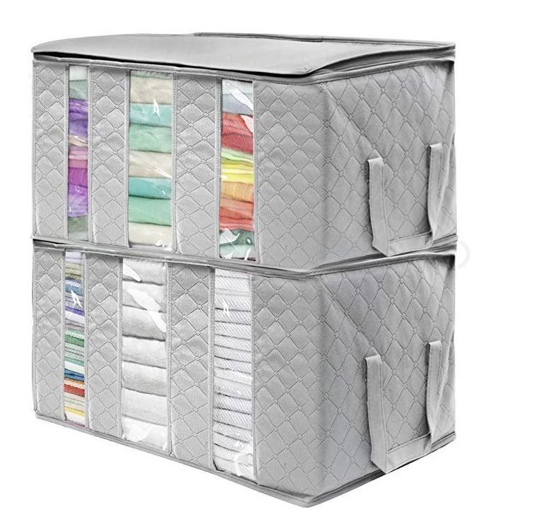 Dokunmamış Katlanabilir Saklama Kutusu Taşınabilir Giysi Organizatör Düzenli Kılıfı Bavul Ev Saklama Kutusu Büyük Kapasiteli Ev Aksesuarları DXP66