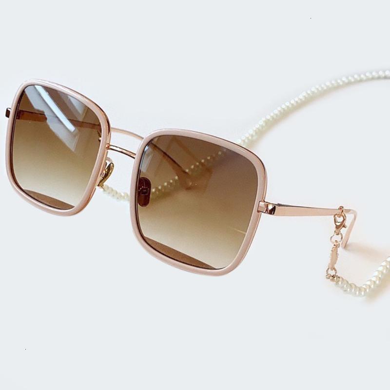 Летние квадратные солнцезащитные очки для женщин Brand Designer Vintage Chain Оттенки женской моды высокого качества Солнцезащитные очки