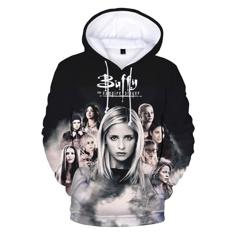 Buffy The Vampire Slayer Imprimir 3D Sudadera con capucha Sudaderas Hombres Mujeres Moda Casual Hip Hop Pullover Harajuku Streetwear Hoodies Y201123