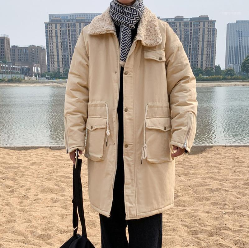 2020 Inverno New Youth Popular Popolare Sciolto Allenze Grande Dimensioni Ambientazione di Pelliccia a metà Lunghezza Fur Collo Giacca in cotone Moda Casual Top M-5XL1
