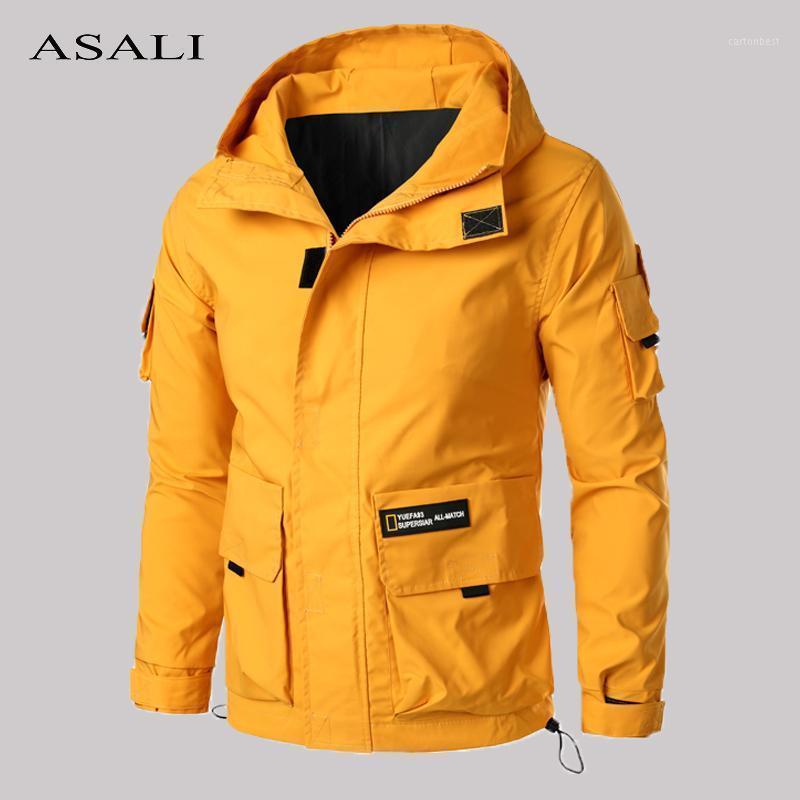 Mulit-Pocket Cargo Jackets Men Autumn Hooded Zipper Jackets Coat Men's 2020 New Outdoor Overcoats Male Casual Hoodies Sportswear1