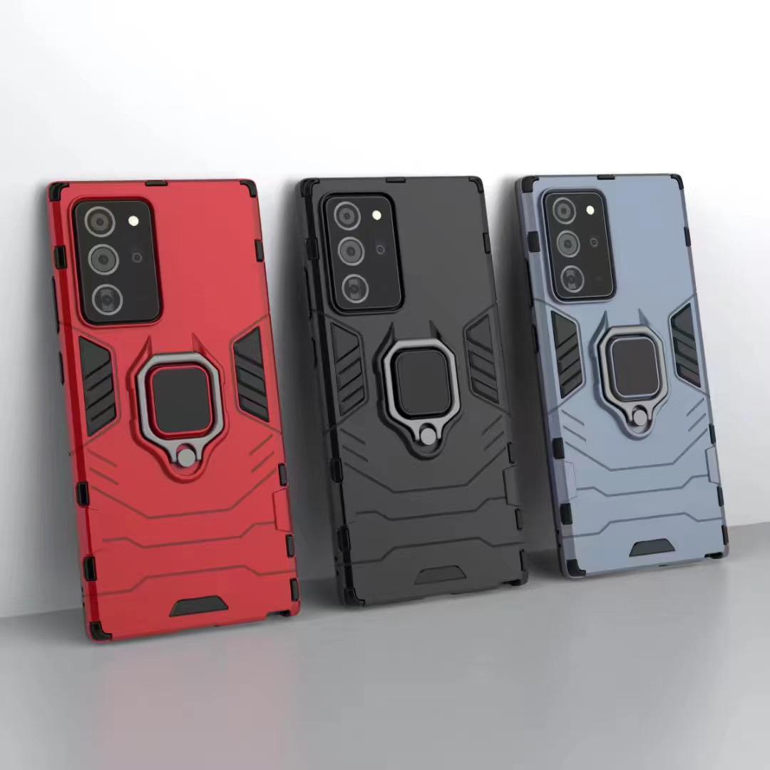 Parmak Halka Tutucu Telefon Kılıf Kapak Samsung S20 Artı S20 Ultra Not 20 Note10 Pro S10 S9plus A10S A50 S10E A40 A70S A90 5G M30S A11