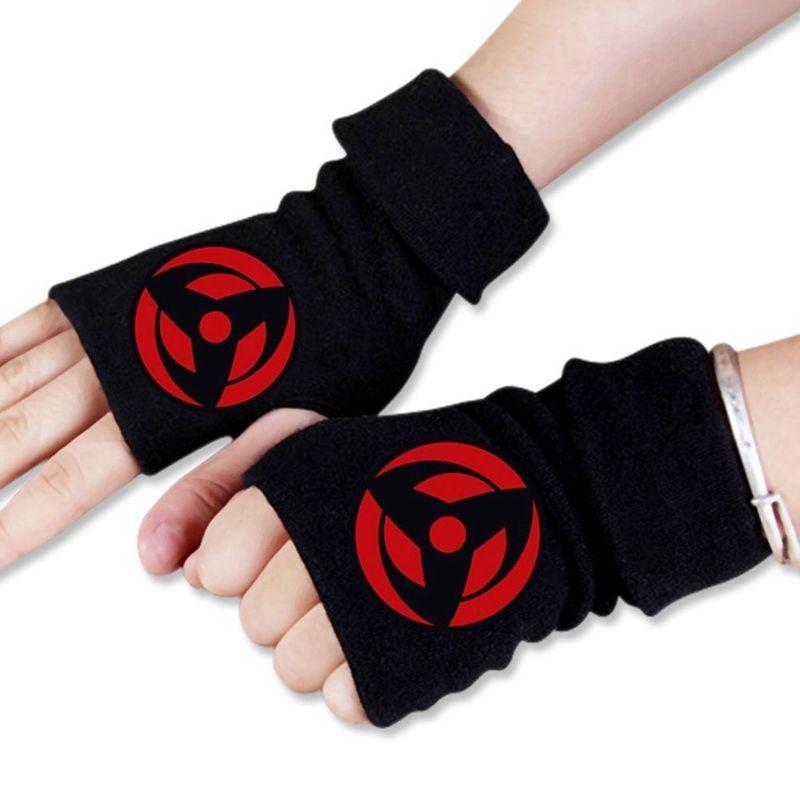Mężczyźni Kobiety Japonia Anime Cartoon Naruto Hokage Ninja Hokage Winter Half Finger Rękawiczki Cosplay Akcesoria