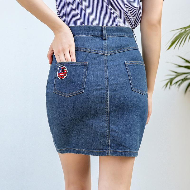 Jianduo Women's Summer Women Denim Denim Mode Jupe Slim Slim B72120