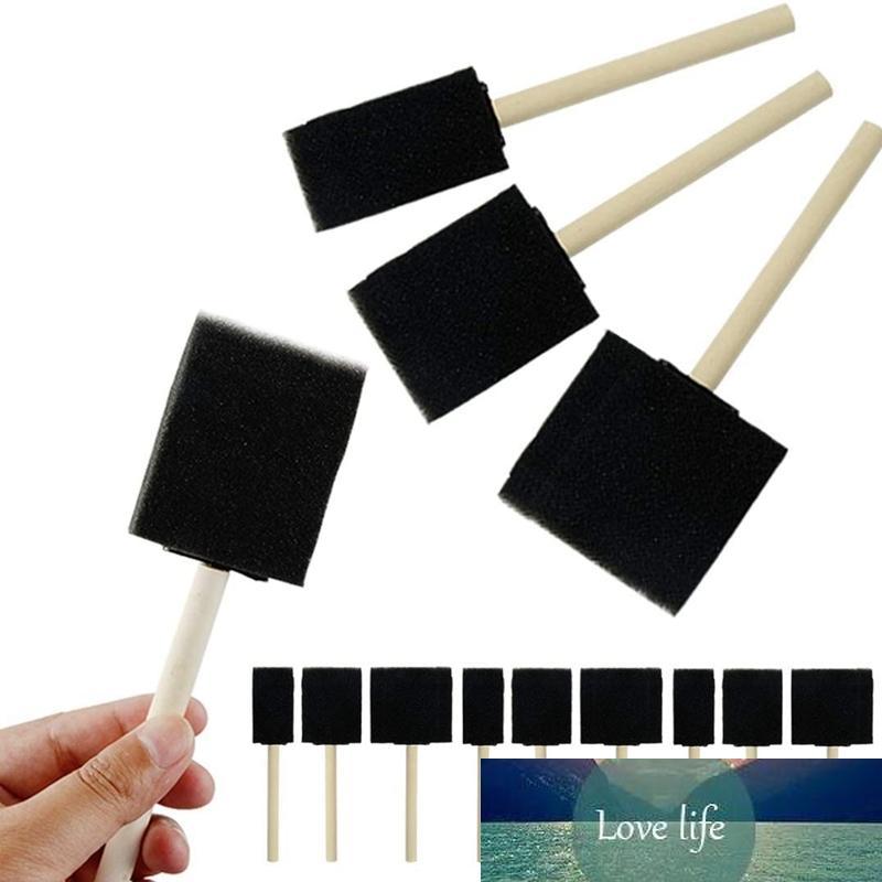 63 adet Köpük Boya Fırçası Sünger Köpük Fırça Boyama Set Ahşap Saplı Boya Fırça Aracı Çocuk Çizim Seti Için