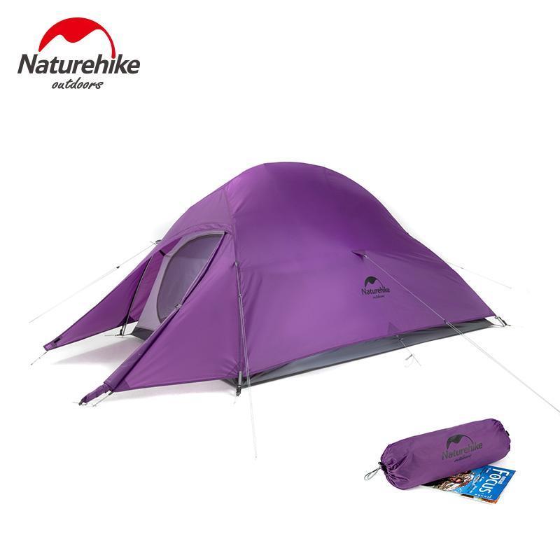 NatureHike Cloud Up 2 tenda Ultralight Camping Tenda 1 2 Persona doppio strato impermeabile da pesca Zaino da pesca all'aperto