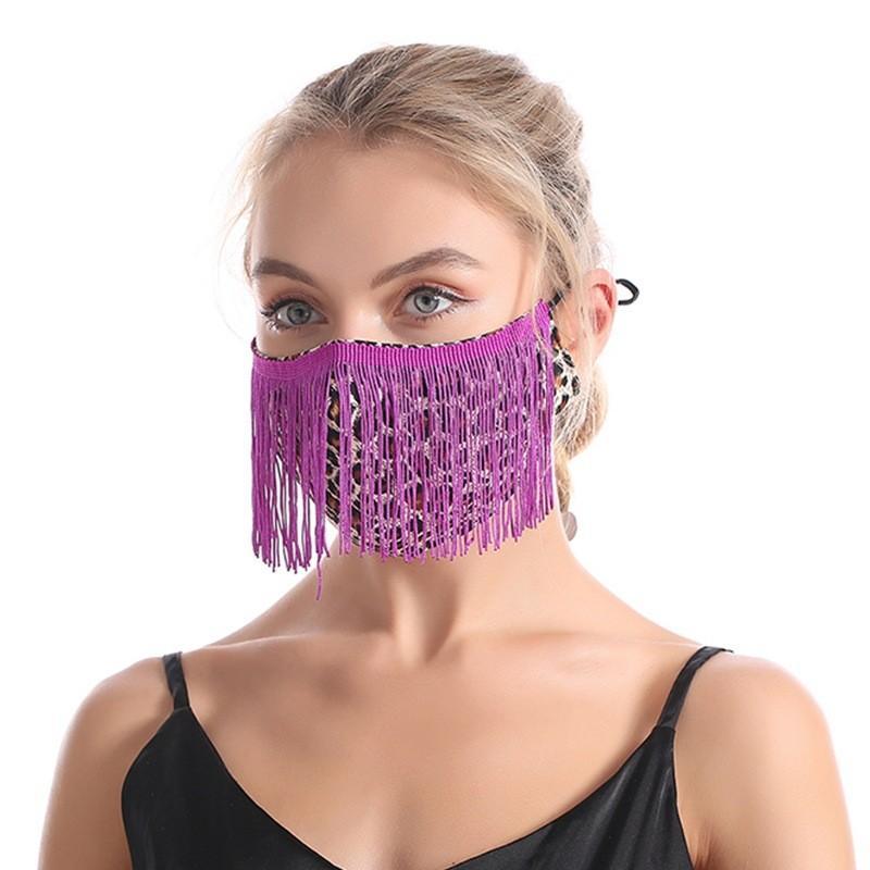 Cor Borlas Mulheres Máscara Máscara Leopardo Impressão Padrão Ajustável Lavagem Lavável Gaze Máscaras Venda Quente 7 82JY J2