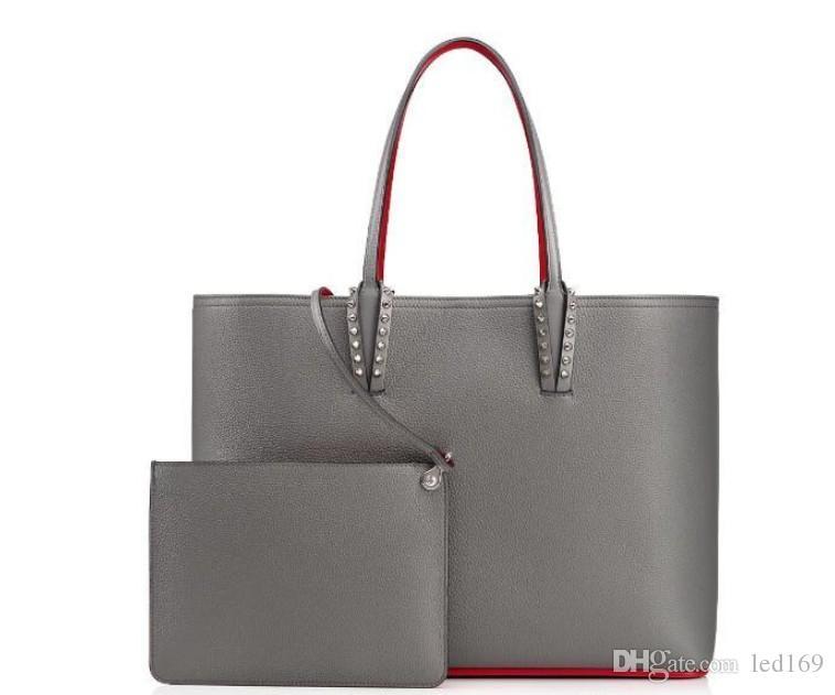 Bolsos de compras de mujeres Nuevos bolsos de diseño Totes de bolsos compuestos Famosos bolsos de cuero genuino Bolsos grandes Bolsos Blanco Negro Marrón