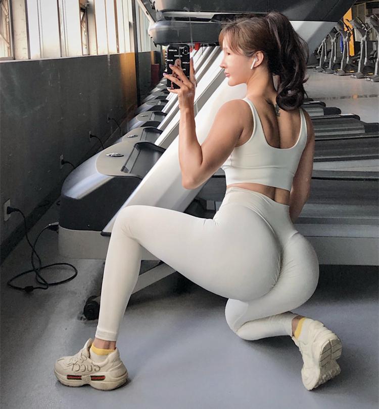 Alta Cintura Energia Perneiras Sem Emenda Empurrar Leggins Sport Mulheres Fitness Femme Running Calças de Yoga Gym Gym Leggins X1227