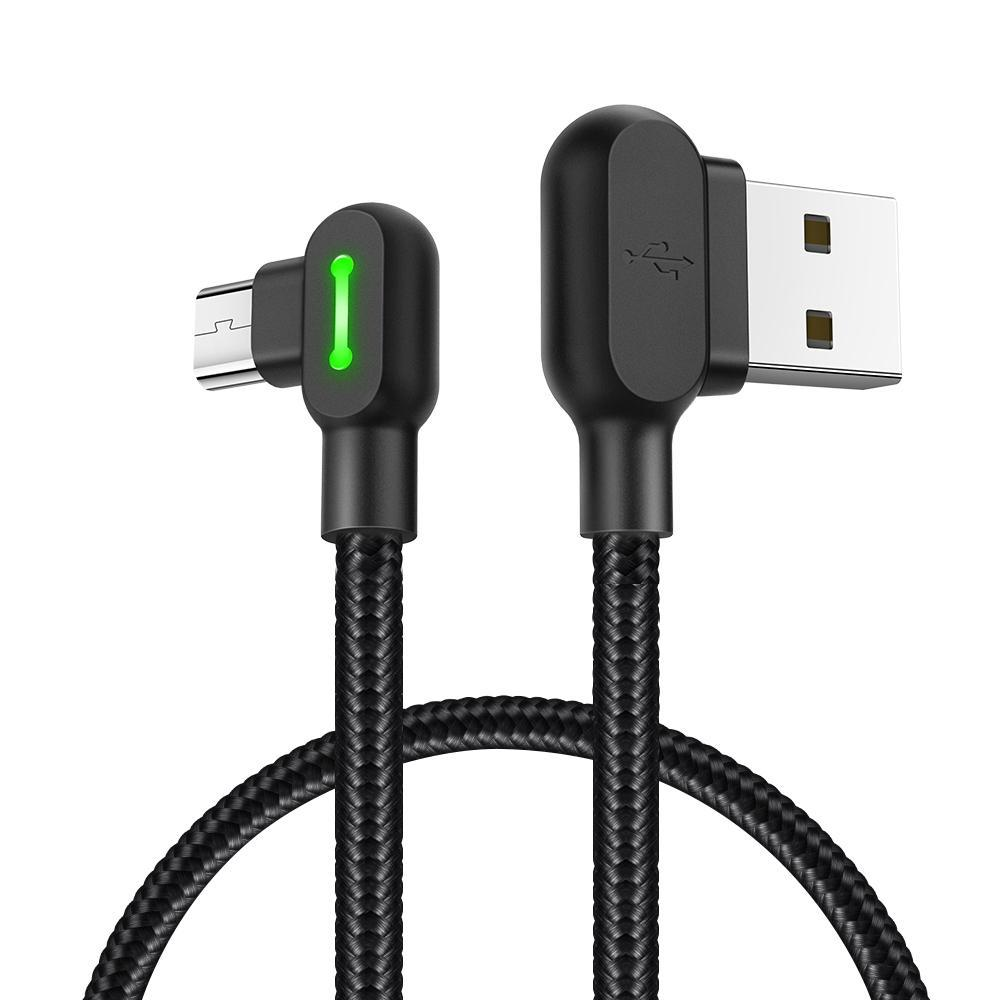 Mcdodo CA-5770 série Bouton 90 degrés d'angle double LED Micro USB vers USB Longueur du câble 05m