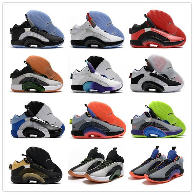 2020 Nuovo arrivo Jumpman XXXV 35 Grigio Stellato Stellato Bianco Black Jade Mens Scarpe da basket Fashion Black Bianco Red 35s Sneakers sportivi