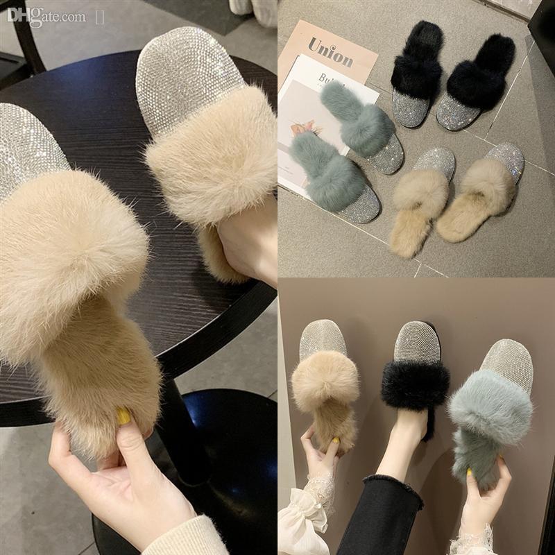 qlutu peluche de haute qualité femme maison mode bas mode chaude confortable adulte maison brillant chaussures de pantoufle chaud et plats hiver pantoufles d'hiver