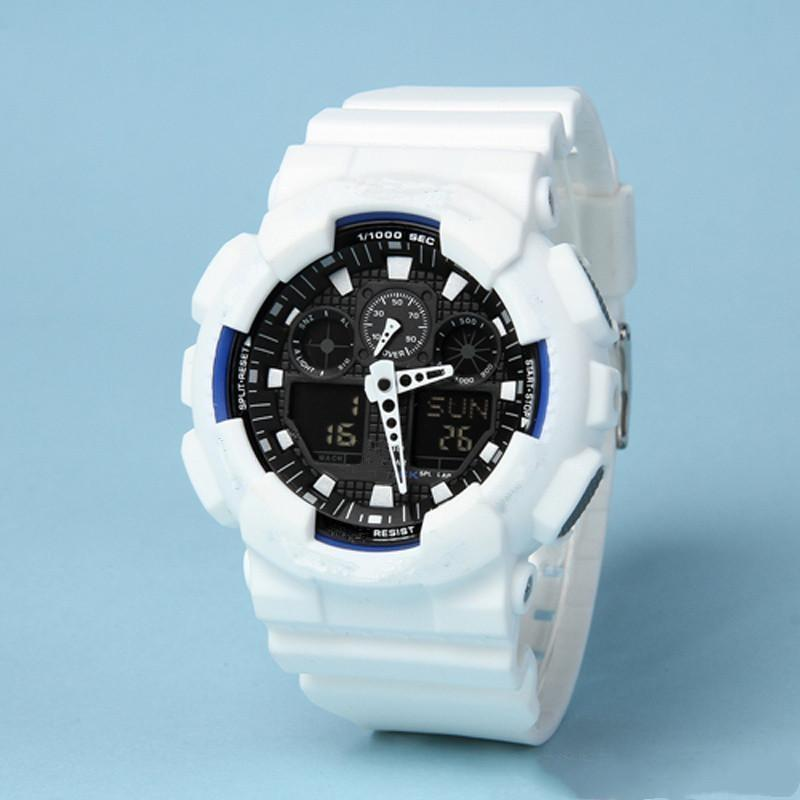 Горячие продажи досуга спортивные мужские светодиодные цифровые часы автоматические рука поднимают лампу Ga100 водонепроницаемый и ударопрочный мировой мир
