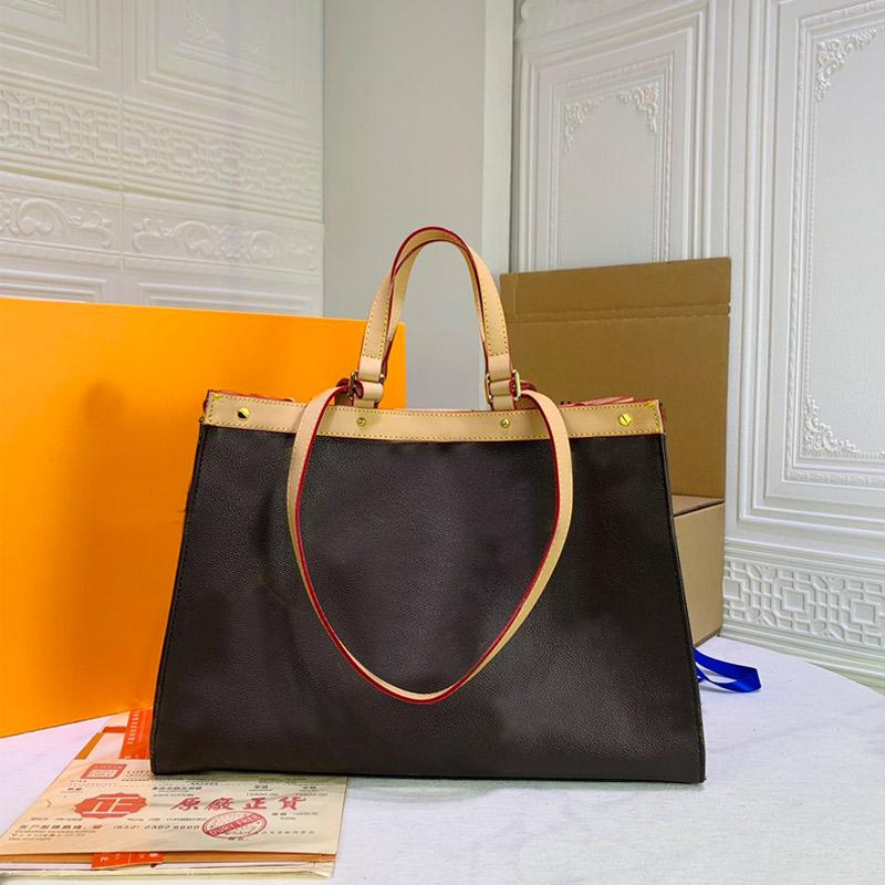 Fashion Women Handbag Large Capacity Tote Bag Package Shopping Bags L Letter Genuine Leather Hand bag Old Flower Shoulder Bags High Quality