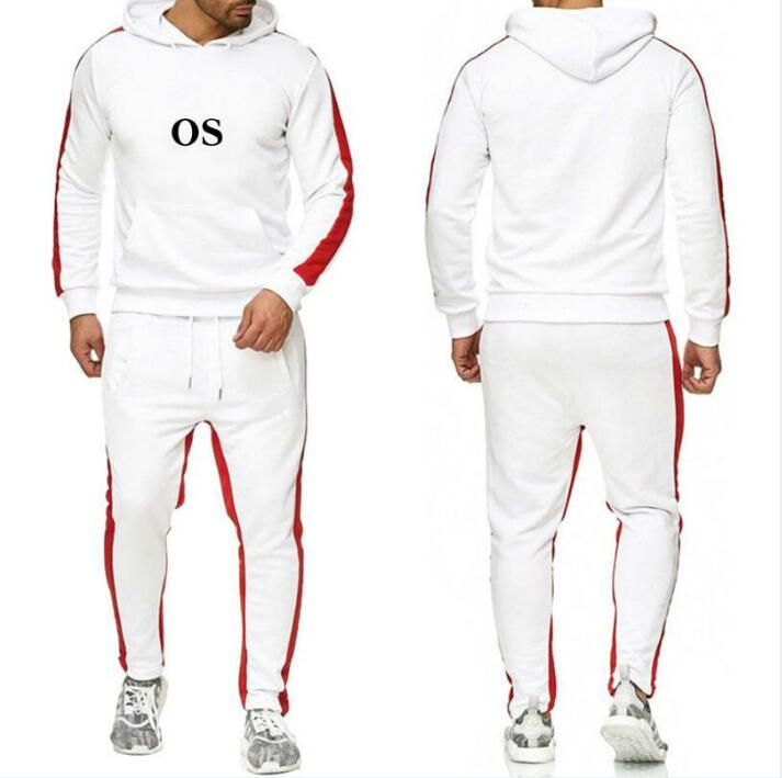 Swears Sweatsuit Mens Tracksuit de lujo para hombre Jogging Casual Sport Trajes de primavera otoño Sudadera con capucha + Joggers Mens Sportswear Traje Tamaño S-3XL