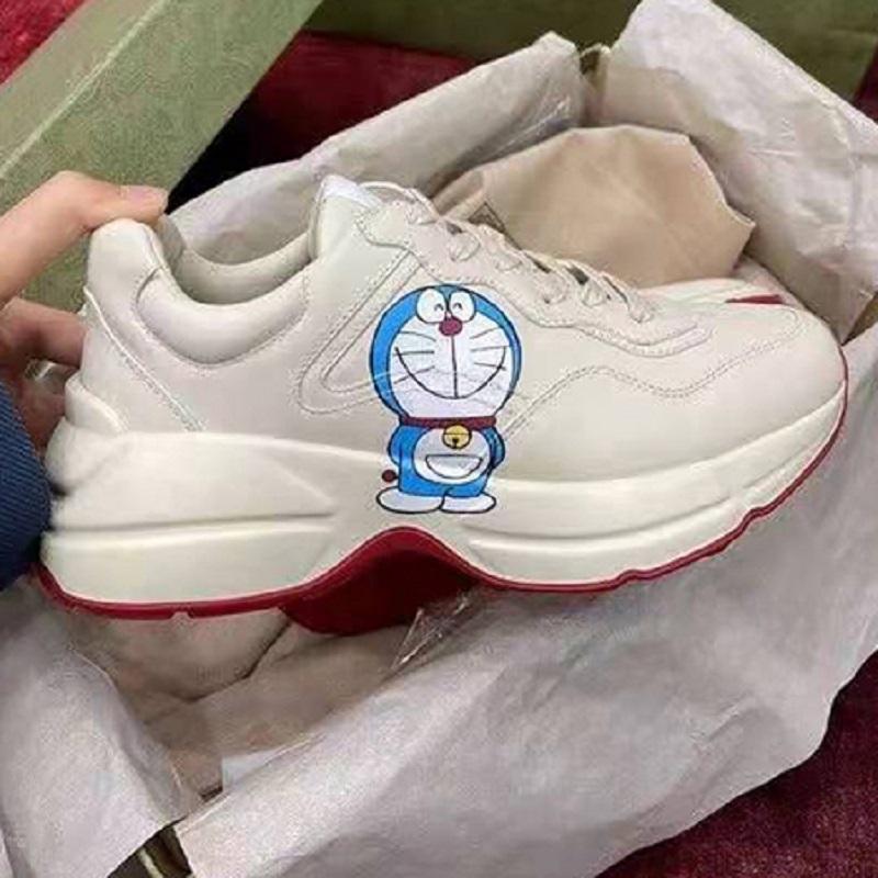 Yeni Deri Sneaker Erkek Kadın Ayakkabı Çilek Dalga Ağız ile Kaplan Web Baskı Vintage Eğitmen Adam Kadın Ayakkabı Rahat Ayakkabılar 11