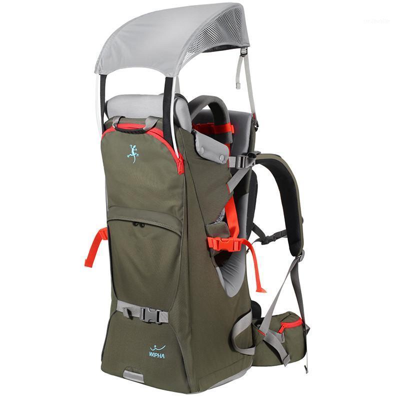 Bebé plegable Carrier de viaje a prueba de agua para niños de senderismo para niños al aire libre de montañismo al aire libre Bebé trasero Silla de silla