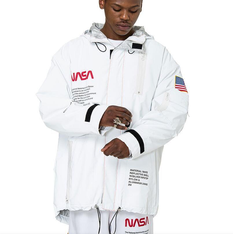 Giacca Designer Abbigliamento Giacche da uomo Giacche a vento Inverno Inverno Ricamo Lettera NASA Cappotti Casual Capispalla Moda Streetwear Womans Coat