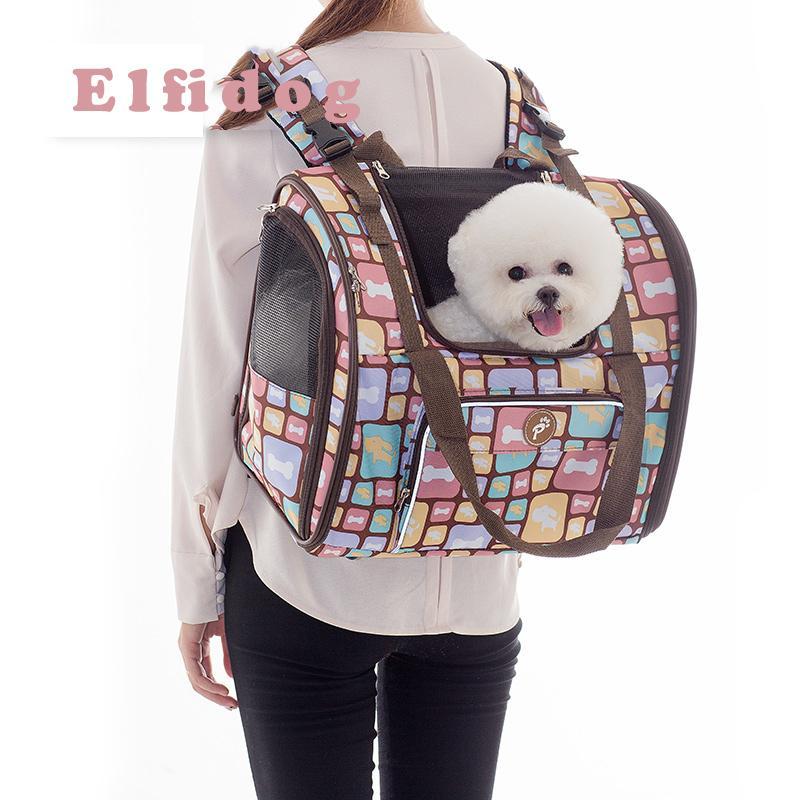Роскошный холст для собак рюкзак для собак рюкзак сумка для плеч для домашних животных маленький средний животных путешествия на открытом воздухе портативный портативный состав Cat хорошо LJ201201