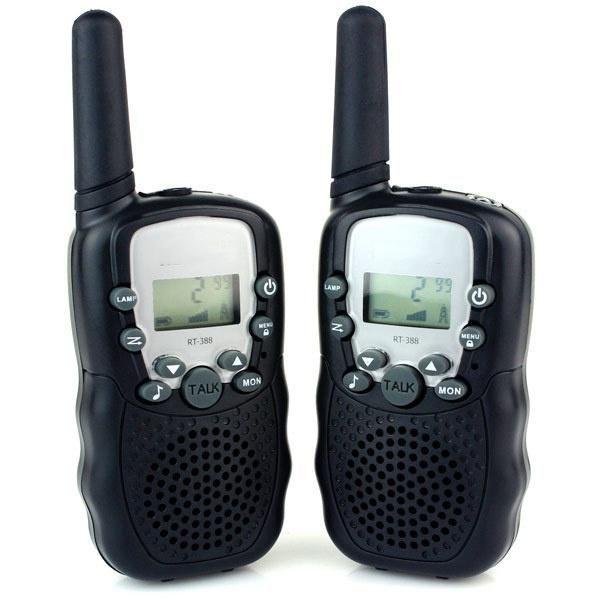DOIS Set Crianças Telefone sem fio Walkie Talkie Electronic Gadgets pilhas Rádios Walkie Talkie Toy Criança Toy Educatianal