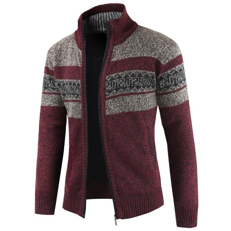Plus Size XXXL Hommes Pull Vintage Designer Tricoté Sweatercoat hommes Pulls de style européen Homme Manteau Motif Gilet Laine A384