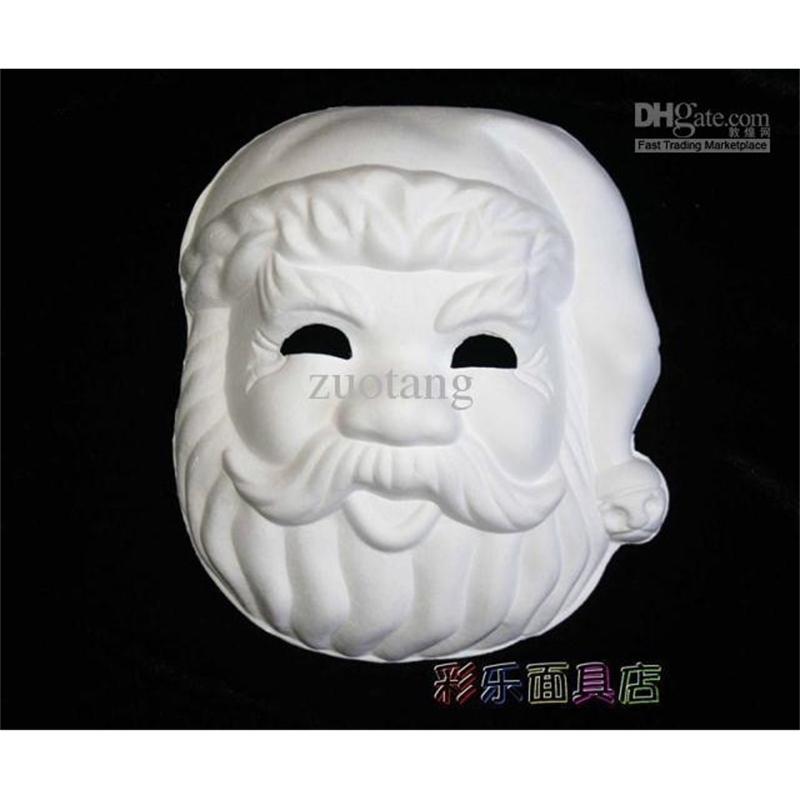 Çevre Parti Boş Masquerade Boyasız Maskeleri Noel Baba Kağıt Hamuru Tam Yüz DIY Güzel Sanatlar Boyama Düz Beyaz