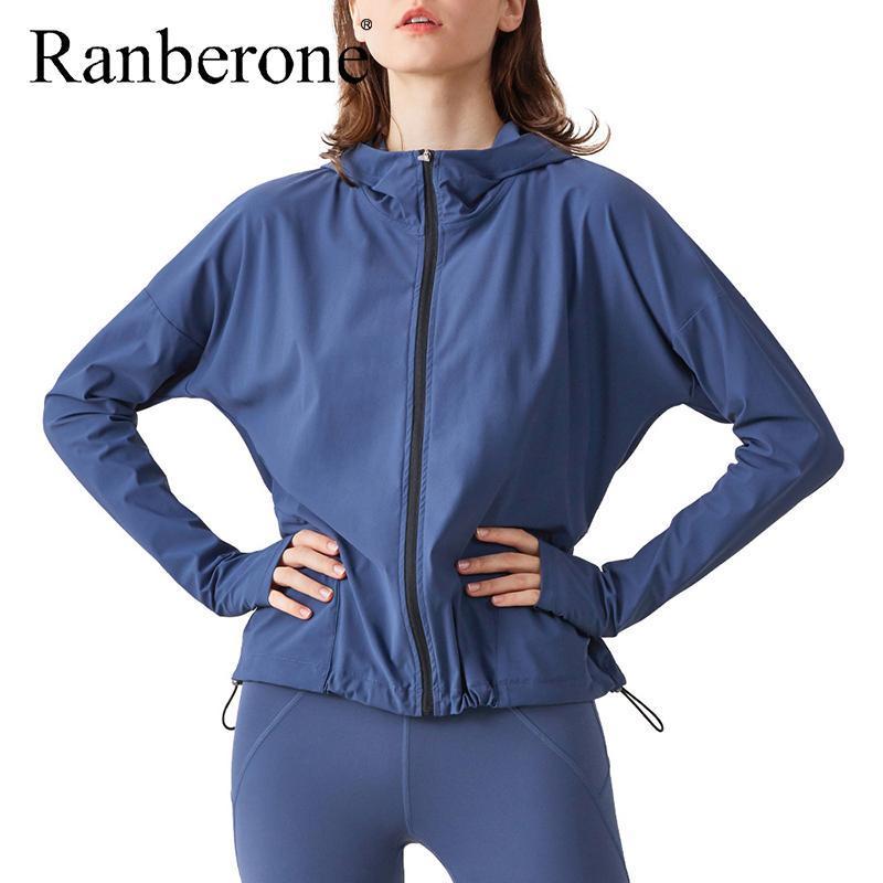Kadınlar Eşofman Spor Yoga Gömlek Spor Üst Katı Renk Uzun Kollu Ceket Eğitim Giyim Spor Activewear Kadın Koşu Zip