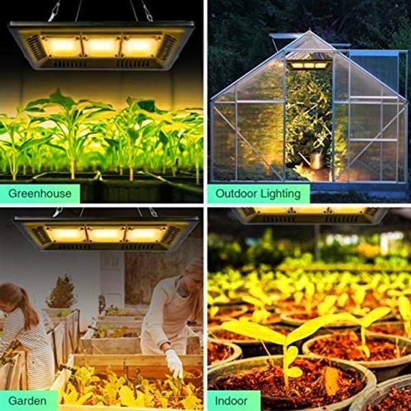 Rabatt 450W Quadratisches Vollspektrum LED Wachsen Licht Schwarz Hohe Effizienz COB-Technologie Wasserdichte Hohe Qualität Grow Lights CE FCC ROHS