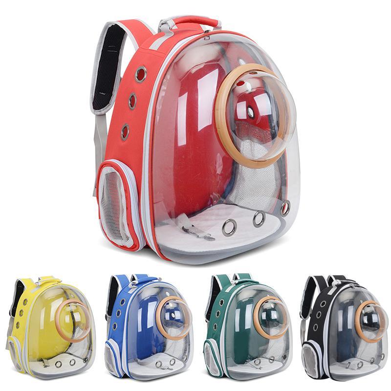 Voyage animal de compagnie transporter voiture respirant sac de vélo astronaute chien space chat sac à dos transparent fenêtre bubble fehkt soocx