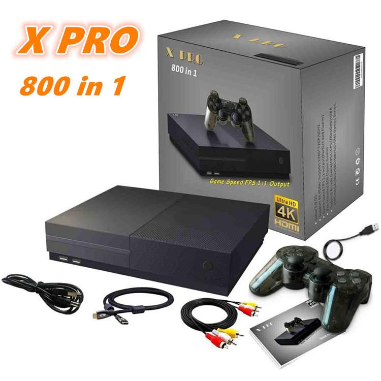 XPro Retro Video Game Console 64 Bit Support 1280p 4k HDMI-Ausgang Store 800 Classic Family Videospiele Retro Game Console zum TV X Pro 1 STÜCKE