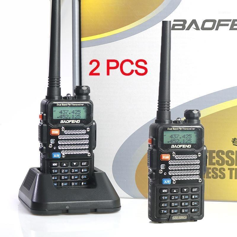 Walkie Talkie 2PCS Baofeng UV-5RQ VHF / UHF136-174MHz400-520MHz Dual Band Dois Way Radio UV 5RQ Portátil Walkie-Talkies1