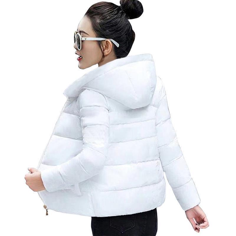 Chaqueta de otoño de las parkas de las mujeres de las mujeres 2021 chaquetas femeninas de la capa de moda más tamaño 6XL Mujer Oficina de invierno Dama con capucha Outwear Outwear