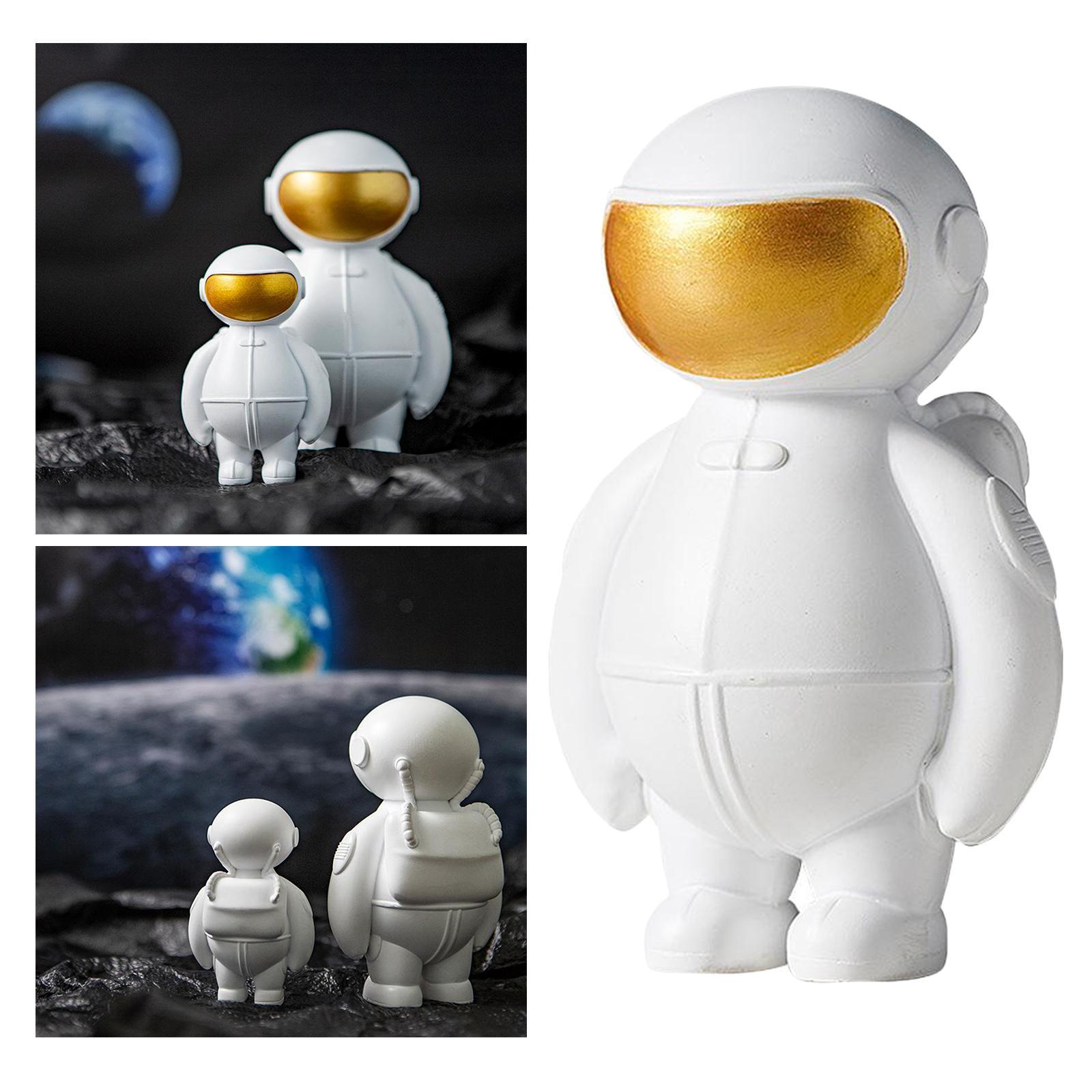 Résine astronaute Figure espace extra-atmosphérique Themed cadeaux Jeux de fête d'anniversaire Enfants Garçons Chambre Chambre Décoration Nouvel An Cadeau de Noël