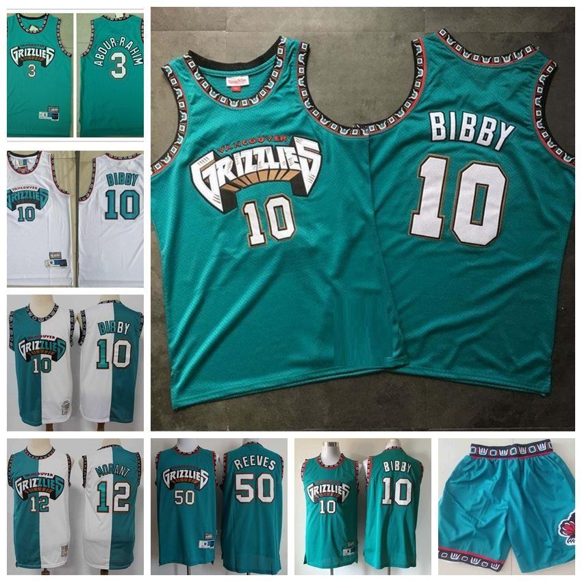 NCAA Mens Mike 10 Bibby Bryant 50 Reeves Yüksek kaliteli Shareef 3 Abdur-Rahim GrizzliesMemphisBasketbol forması