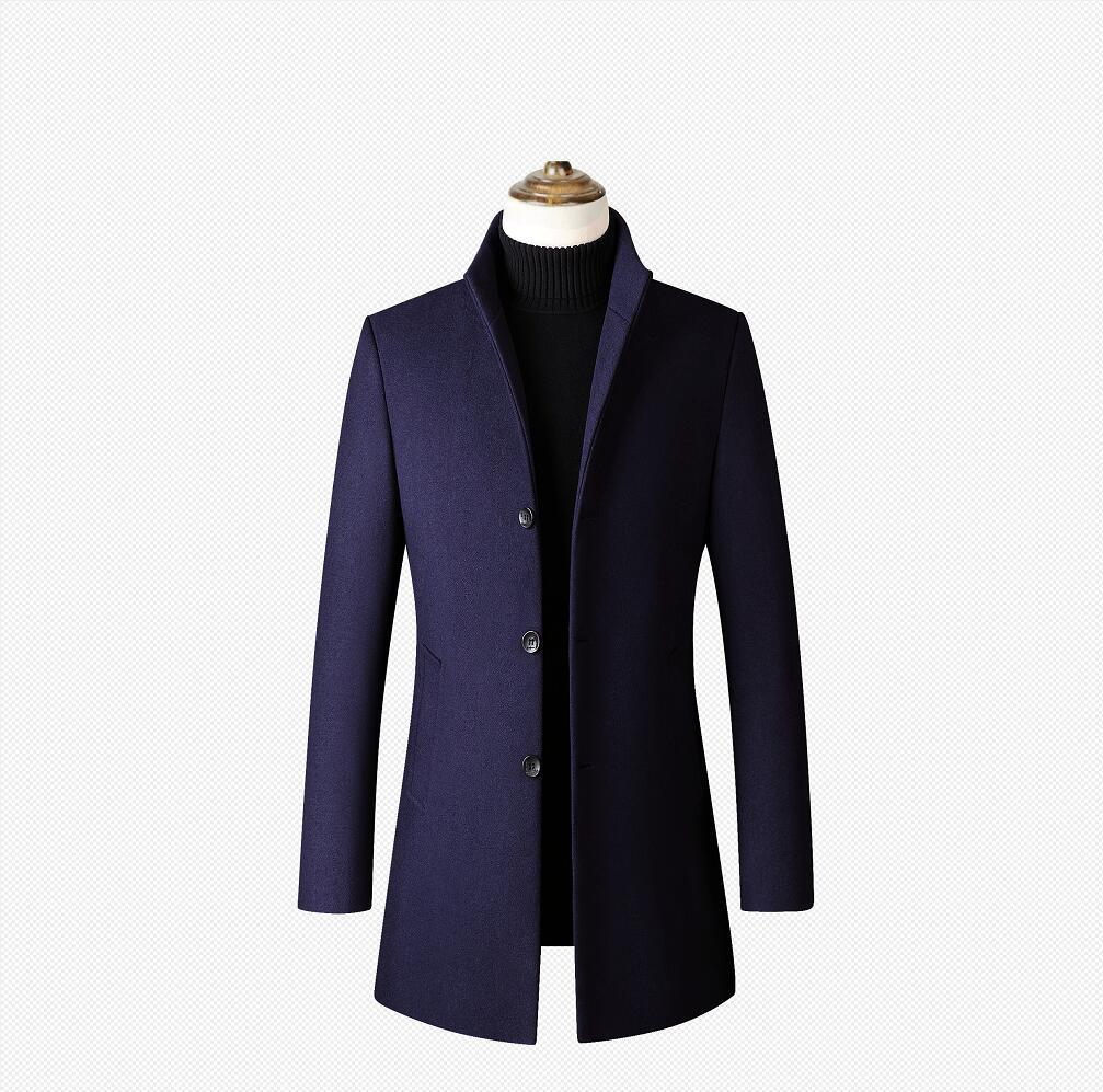 Designer Herren Wolle Trench Coats Einreiher Fashion Winter Herbst Lange verdicken Slim Fit Overcoat Jacke Parka Herren Kleidung Plus Size 4XL