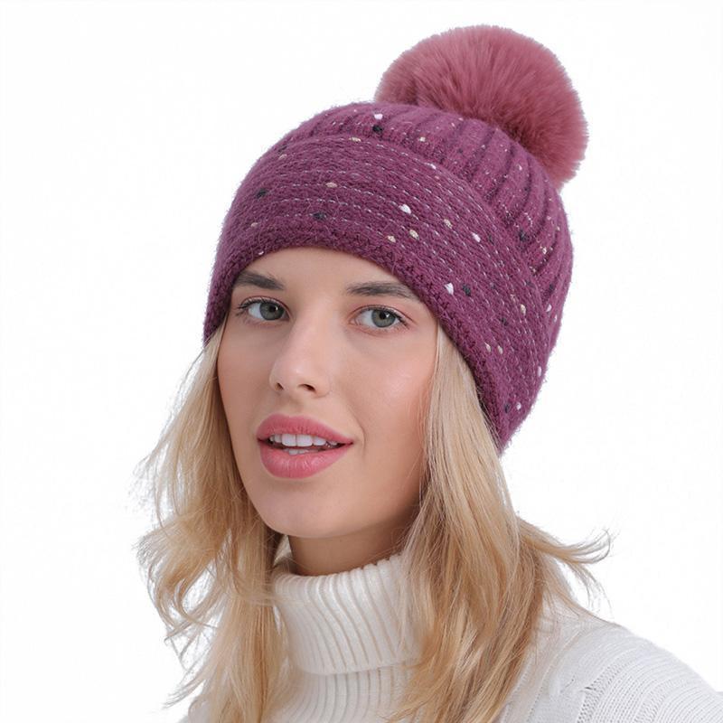 Шапочки / черепные колпачки Спасибо осенью зима вязаные Бонцы для женщин Мягкая шерсть твердая шляпа толстые теплые ветрозащитные шапочки женские