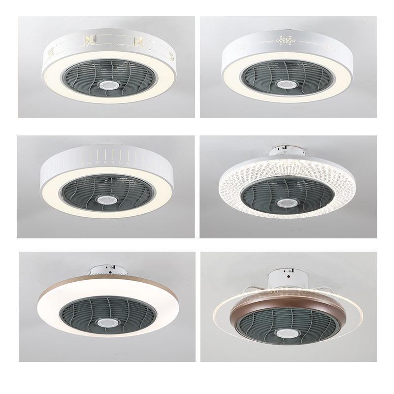 2020 Совершенно новый светодиодный вентилятор света Smart потолочный вентилятор огни 2.4G дистанционного управления обещание Dimming Restaurant Lamp AC110V AC220V1