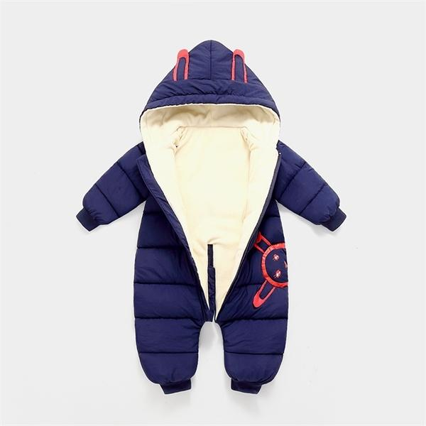 OLEKID 2020 Jumpsuit plus de velours épais duvet de coton Habineige Nouveau-né barboteuses Tout-petits garçons bébé Manteau d'hiver Y1107