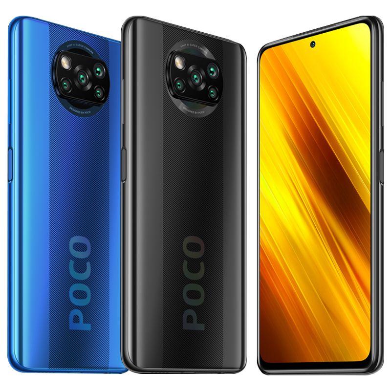 "Version globale Poco X3 NFC 6GB 6GB Smartphone Smartphone Snapdragon 732G OCTA CORE 6.67 ""Pocophone 64MP Caméra quad 5160MAH Batterie"