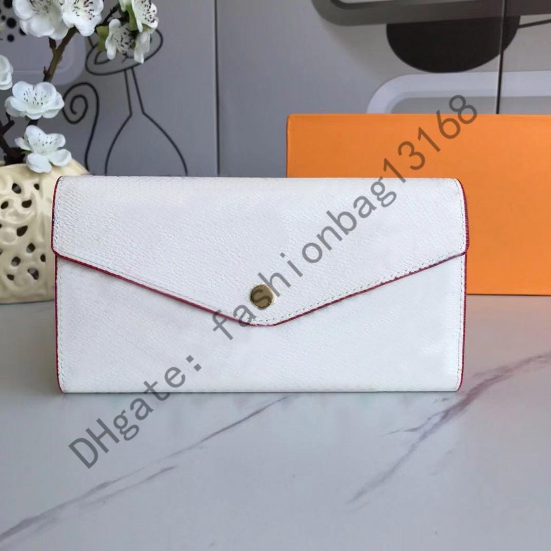 60531 Hohe Qualität Frauen Klassische Umschlag-Stil Lange Brieftasche Geldbörse Kreditkarte mit Geschenkbox Freies Verschiffen Qweru