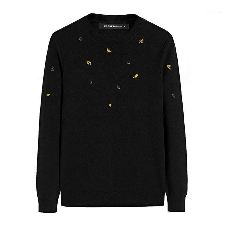 Pullover Herren StickereiPullover Mode Urban Casual Männliche Pullover Absicherung Langarm Jugend Oansatz 2020 Frühling Herbst CL801