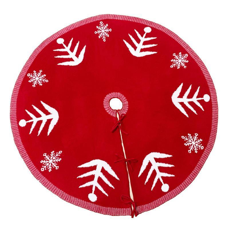 Moda Criativa Xmas Tree saia Decoração Snowflakes Pattern Knit do tapete por partido Home Props