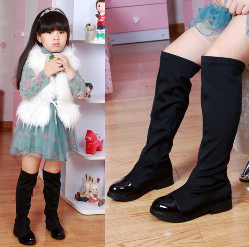 Kürk Çocuklar Kar Boots Kış Kadın Moda Boots Kızlar Prenses Diz boyu Martin Boots Çocuk Casual Spor Ayakkabı Sıcak Sneakers C1002