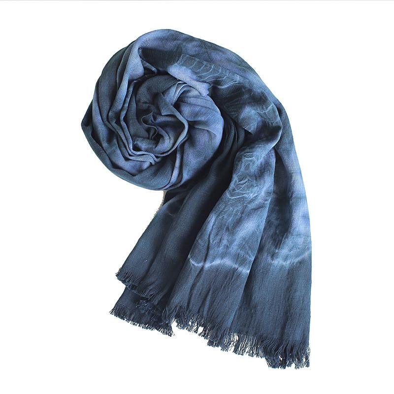 Cotton Scarves for Women Fashion Tie-dye printing Scarf Lightweight Shawls and Wraps
