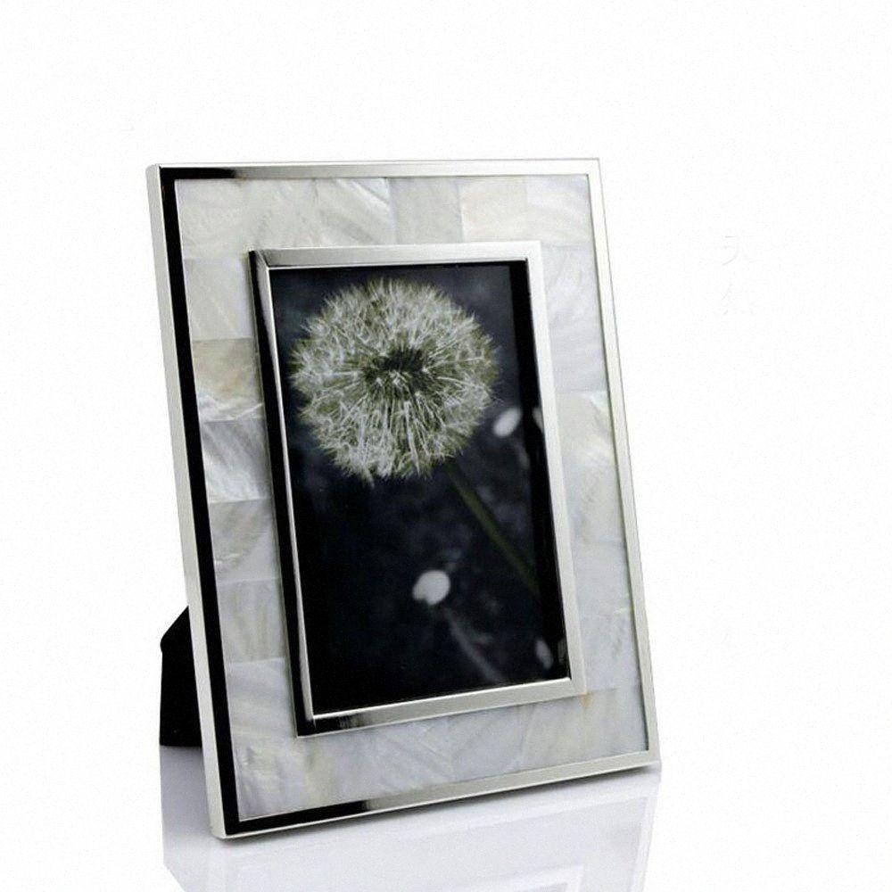 8x10 pollici alla moda fatto a mano si dirige Deco naturale Seashell Photo Frames, Shell Framing display YSPF-007 5LKw #